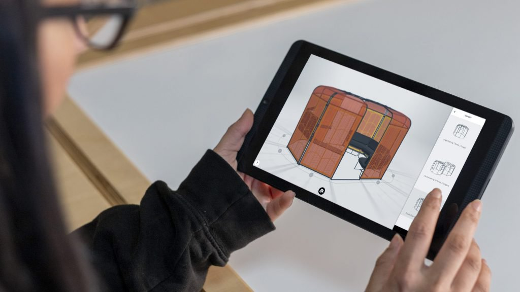 Colony configurator being used on a tablet